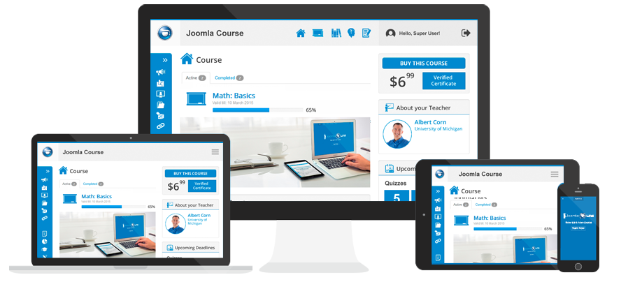 Multi device elearning platform