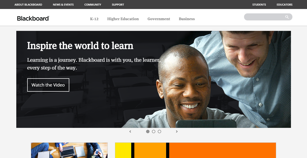 blackboard education technology solutions learning platforms